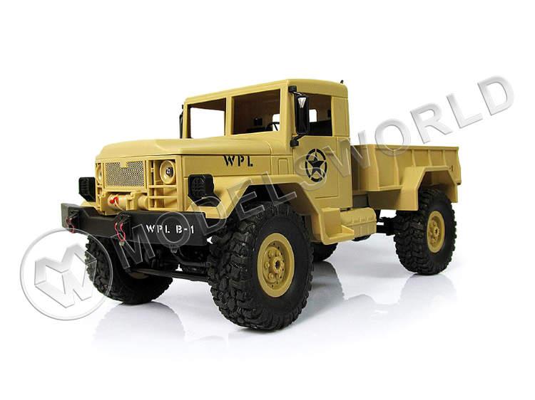 Радиоуправляемая модель WPL военный грузовик (песочный) 1/16 + акб 2.4G RTR - купить в интернет-магазине Мир Моделей с доставкой в г. Екатеринбург